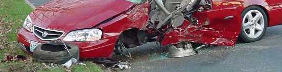 Lawyer hurt in car wreck